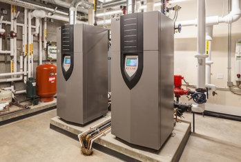 two large boilers